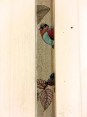 Little remnants of wallpaper left